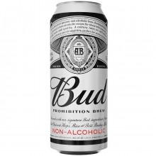 Пивной напиток Bud безалкогольный в жестяной банке 0,45 л
